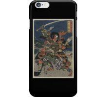The samurai warriors Ichijō Jirō Tadanori and Notonokami Noritsune iPhone Case/Skin