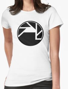 Black Mesa and Aperture Science Logos Womens Fitted T-Shirt