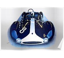 1960 Maserati T61 Vintage Racecar Poster