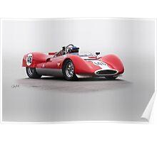 1963 Genie Mk 7 Vintage Racecar Poster