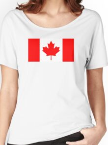 Canadian Flag Women's Relaxed Fit T-Shirt