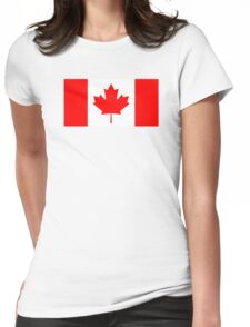 Canadian Flag Womens Fitted T-Shirt