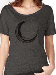 Crescent Moon - Black Edition Women's Relaxed Fit T-Shirt