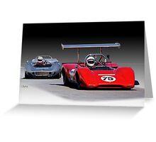 1963 Lola M163 Vintage CanAm Racecar Greeting Card