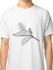 Leaves contours on white background Classic T-Shirt