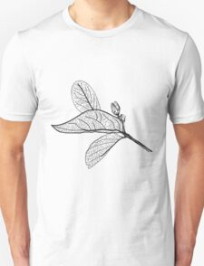 Leaves contours on white background T-Shirt
