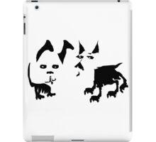 Fun Two Dogs in Black and White  iPad Case/Skin