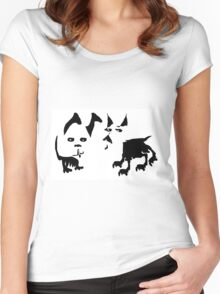 Two Dogs  Women's Fitted Scoop T-Shirt