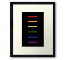 LGBTQ Rainbow Lines Framed Print