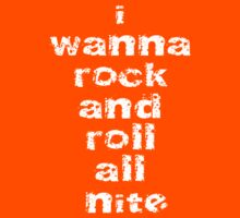 I Wanna Rock And Roll All Nite T-Shirt - Kiss Me! Night Sticker Kids Clothes