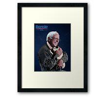 Bernie & His Cat Framed Print