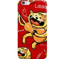 Happy Cat Singing - red iPhone Case/Skin