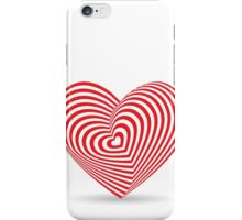 Red heart optical illusion 3d iPhone Case/Skin