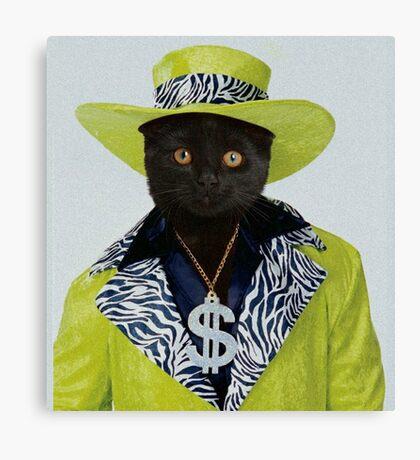 Pimp Cat Canvas Print