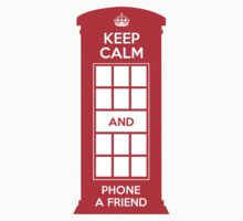 Keep calm and phone a friend. UK London One Piece - Short Sleeve