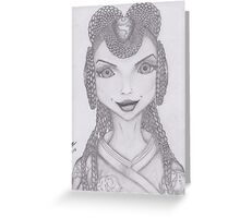 Chinese witch alien look Greeting Card