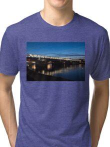British Symbols and Landmarks - Blackfriars Railway Bridge in London, England Tri-blend T-Shirt