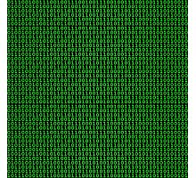 Binary Green Photographic Print