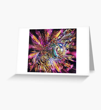 Space Station Retna Greeting Card