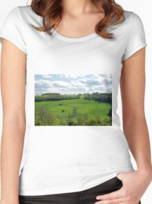 View South of Thorpe In Derbyshire Women's Fitted Scoop T-Shirt