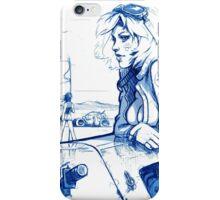 Girl and Bike 3 iPhone Case/Skin