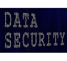 Data Security in Binary Photographic Print