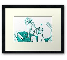 Girl and Bike 5 Framed Print
