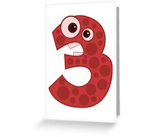 3 - Three Creature Greeting Card