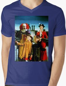 PENNYWISE IN MARY POPPINS Mens V-Neck T-Shirt