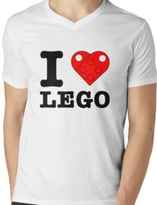 I Heart LEGO Mens V-Neck T-Shirt