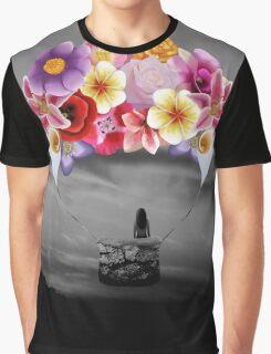 Floral air Balloon Graphic T-Shirt
