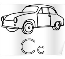 C for Car Poster