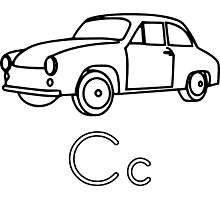 C for Car Photographic Print