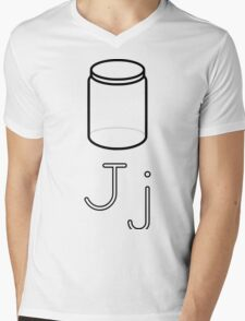 J for Jar Mens V-Neck T-Shirt