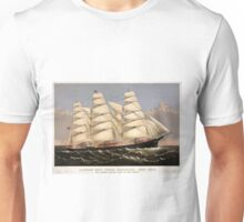 Clipper ship Three Brothers - 1875 - Currier & Ives Unisex T-Shirt