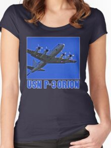 u.s. navy p3 orion t Women's Fitted Scoop T-Shirt