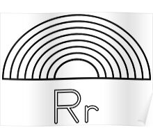 R for Rainbow Poster