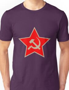 Communist Star; Hammer And Sickle Unisex T-Shirt