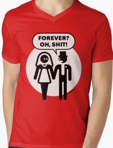 Forever? Oh, Shit! (Wedding / Stag Party / 2C) Mens V-Neck T-Shirt