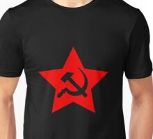 Communist Star; Hammer And Sickle Unisex T-Shirt
