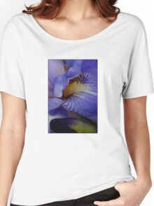 blue iris flower and bud abstract Women's Relaxed Fit T-Shirt