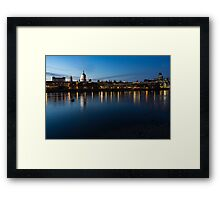 British Symbols and Landmarks - Saint Paul's Cathedral Blue Hour Reflections Framed Print