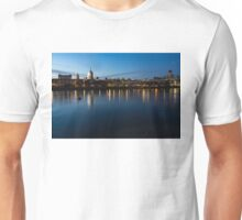 British Symbols and Landmarks - Saint Paul's Cathedral Blue Hour Reflections Unisex T-Shirt