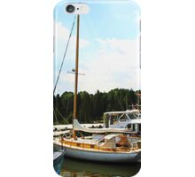 Line of Docked Boats iPhone Case/Skin
