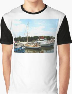 Line of Docked Boats Graphic T-Shirt