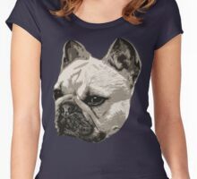 Frenchie - portrait Women's Fitted Scoop T-Shirt