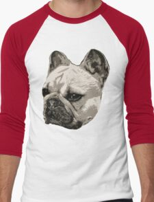 Frenchie - portrait Men's Baseball ¾ T-Shirt