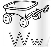 W for Wagon Poster