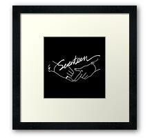 SEVENTEEN Concert Boys Wish Logo Framed Print