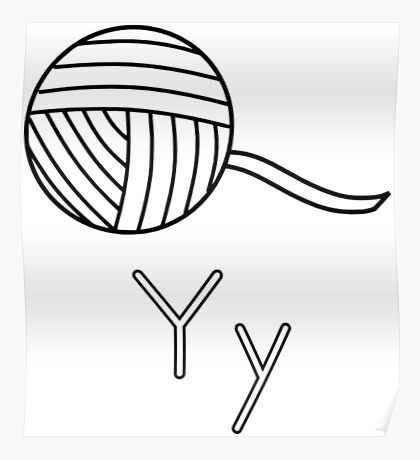 Y for Yarn Poster